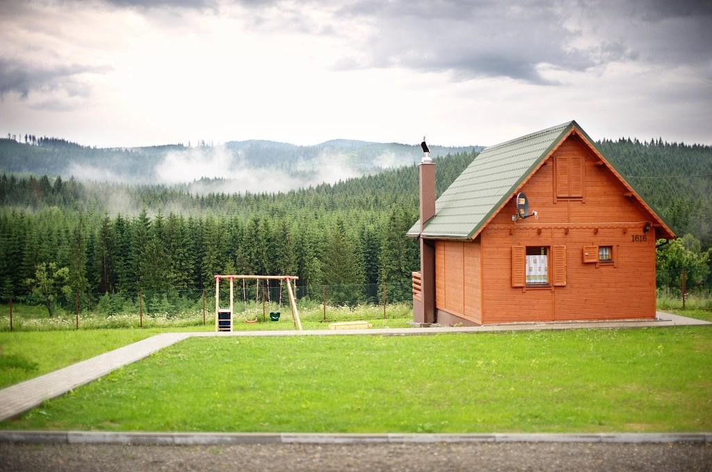 Domki Krótki Szpic - widok na zewnątrz