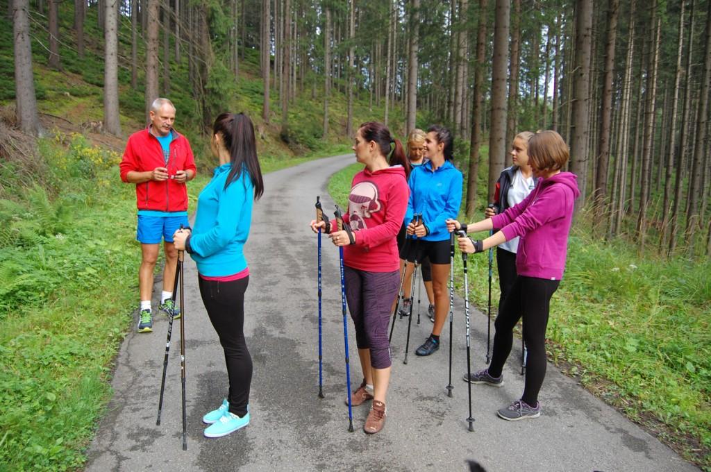 nordic walking w Beskidach
