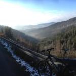 trasa na przełęcz - podczas wycieczki rowerowej