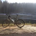 Rower w czasie wycieczki rowerowej w Beskidach