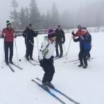 integracja zima - nauka jazdy na nartach biegowych