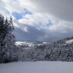 widok na góry w Istebnej