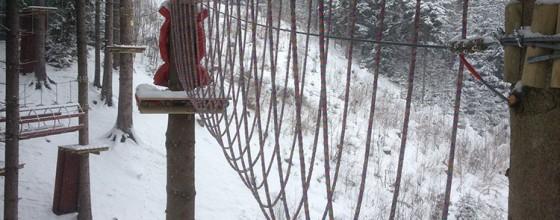 Park Linowy zimą