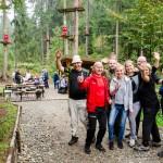 integracja wyjazd firmowy w parku linowym w Beskidach
