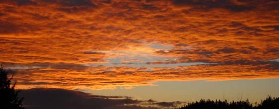 Piękny Istebniański zachód słońca
