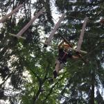 integracja w parku linowym