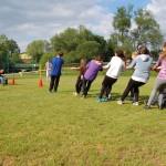 wycieczka szkolena organizowana przez Base Camp - przeciąganie liny