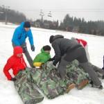 zabawy na integracji na śniegu